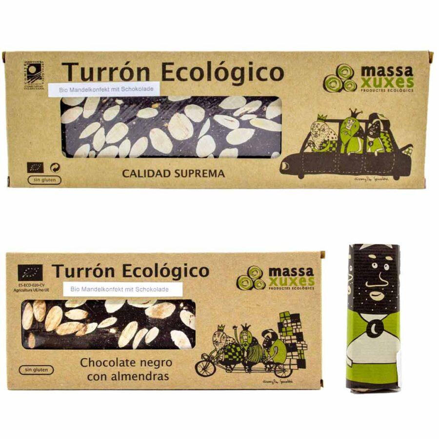 Schoko-Bio-Mandelkonfekt,-Turrón-Choco