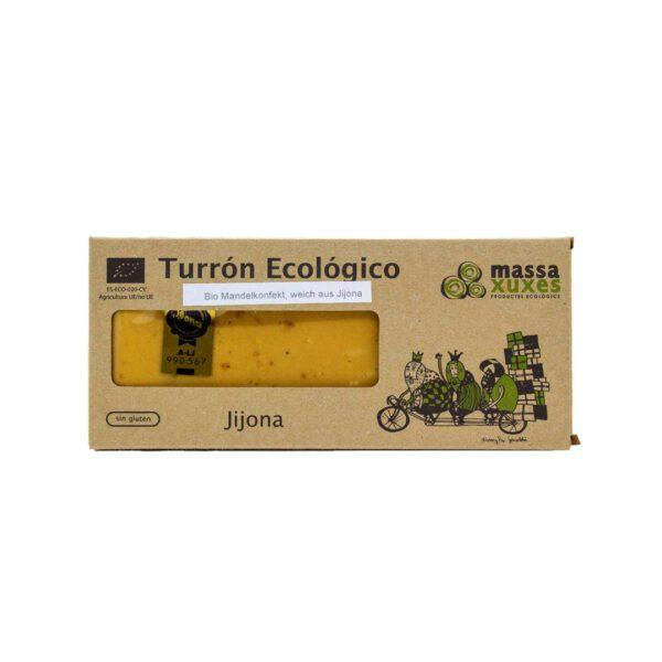 Weichen-Bio-Mandelkonfekt,-Turrón-Jijona.-Geschützte