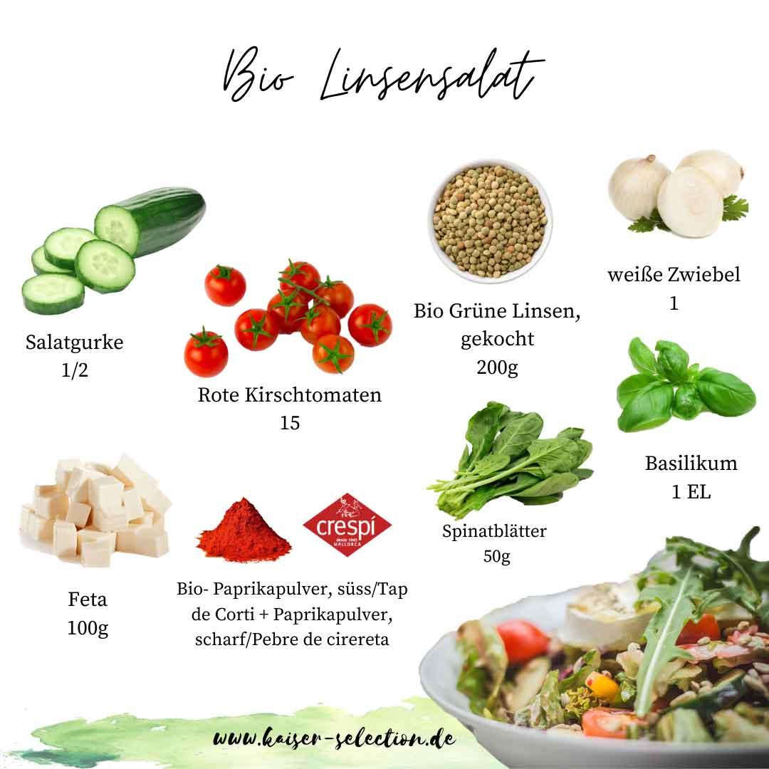 Rezepte-Bio-Linsensalat