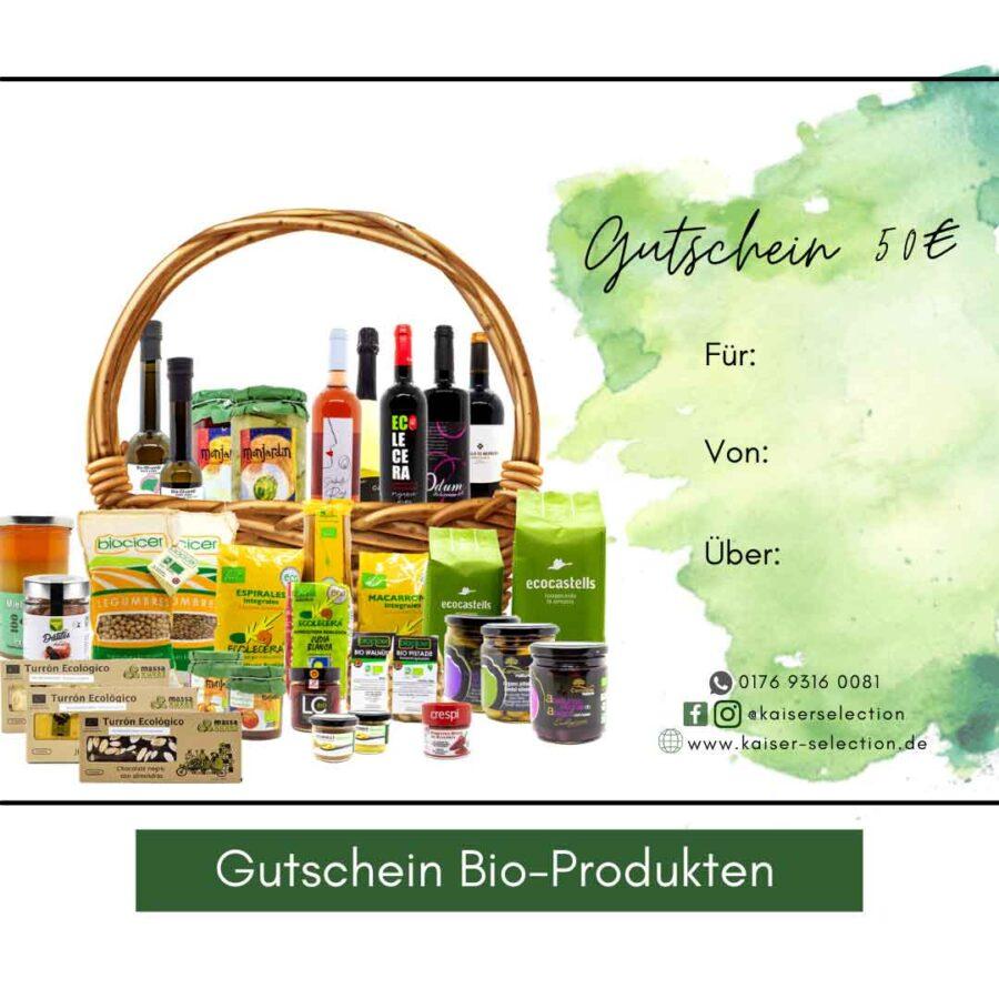 Gutschein-Bio-Produkten